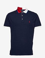 Polo Ralph Lauren - Custom Slim Fit Mesh Polo - short-sleeved polos - cruise navy - 0