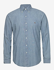 Polo Ralph Lauren - Custom Fit Chambray Shirt - podstawowe koszulki - chambray - 0