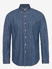 Polo Ralph Lauren - Custom Fit Denim Shirt - podstawowe koszulki - denim - 0