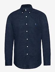 Polo Ralph Lauren - Custom Fit Double-Faced Shirt - basic shirts - cruise navy - 0