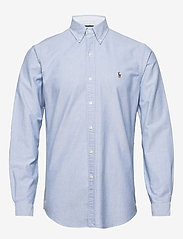 Polo Ralph Lauren - Custom Fit Oxford Shirt - basic shirts - bsr blue - 0