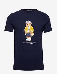 Polo Ralph Lauren - Custom Slim Fit Bear T-Shirt - short-sleeved t-shirts - cruise navy - 0