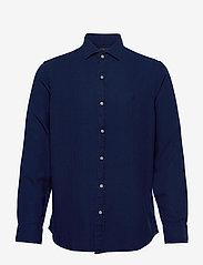 Polo Ralph Lauren - TEXTURE INDIGO WEAV-SLESTPPCS - basic shirts - 4783 dark indigo - 0