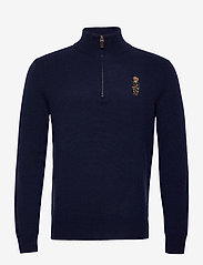 Polo Ralph Lauren - WOOL CASHMERE-LSL-SWT - half zip jumpers - hunter navy - 0