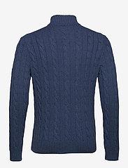 Polo Ralph Lauren - Cable-Knit Cotton Sweater - half zip - derby blue heathe - 2