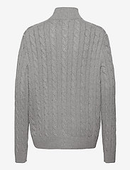 Polo Ralph Lauren - Cable-Knit Cotton Sweater - half zip - fawn grey heather - 2