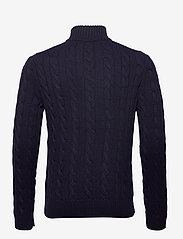 Polo Ralph Lauren - Cable-Knit Cotton Sweater - half zip - hunter navy - 2