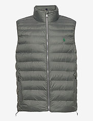 Packable Quilted Vest - CHARCOAL GREY