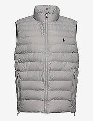 Packable Quilted Vest - LIGHT GREY HEATHE