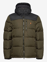 Polo Ralph Lauren - Color-Blocked Down Jacket - padded jackets - company olive/ po - 2