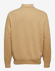 Polo Ralph Lauren - Jersey Quarter-Zip Pullover - half zip - luxury tan heathe - 1