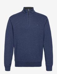 Jersey Quarter-Zip Pullover - SPRING NAVY HEATH