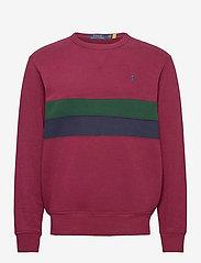 Polo Ralph Lauren - Striped Fleece Sweatshirt - tops - classic wine mult - 1