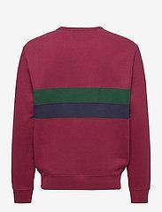 Polo Ralph Lauren - Striped Fleece Sweatshirt - tops - classic wine mult - 2