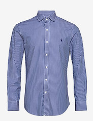 Polo Ralph Lauren - 4D STRETCH POPLIN-SLESTPPCS - business shirts - 4885a blue/white - 1