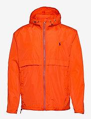 Water-Repellent Hooded Jacket - SPECTRUM ORANGE