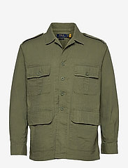 Classic Fit Dobby Utility Shirt - SOLDIER OLIVE