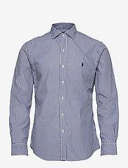 Polo Ralph Lauren - Slim Fit Striped Poplin Shirt - casual shirts - 4655a navy/white - 0