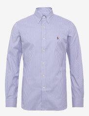 Polo Ralph Lauren - Slim Fit Striped Oxford Shirt - business shirts - 3155b blue/white - 0