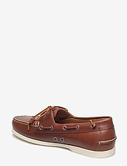 Polo Ralph Lauren - Merton Leather Boat Shoe - boat shoes - deep saddle tan - 2