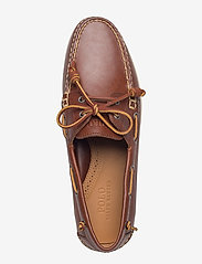 Polo Ralph Lauren - Merton Leather Boat Shoe - boat shoes - deep saddle tan - 3