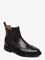 Polo Ralph Lauren - Asher Wingtip Chelsea Boot - chelsea boots - black - 0