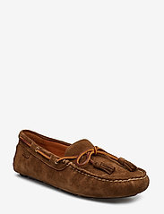 Polo Ralph Lauren - Anders Tasseled Suede Driver - shoes - chocolate brown - 0