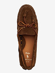 Polo Ralph Lauren - Anders Tasseled Suede Driver - shoes - chocolate brown - 3