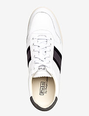 Polo Ralph Lauren - LEATHER/SUEDE-CAMILO II-SK-ATH - low tops - white/black/grey - 3