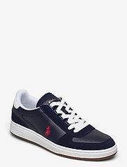 Court Leather-Suede Sneaker - NEWPORT NAVY/RL20