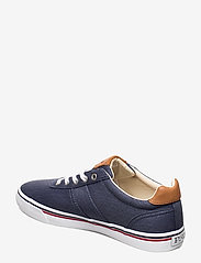 Polo Ralph Lauren - WASHED TWILL-HANFORD-NE - low tops - newport navy/red - 2