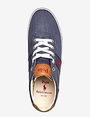 Polo Ralph Lauren - WASHED TWILL-HANFORD-NE - low tops - newport navy/red - 3