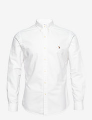 Polo Ralph Lauren - Slim Fit Cotton Oxford Shirt - basic shirts - white - 1
