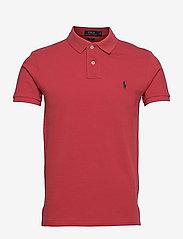Slim Fit Mesh Polo Shirt - CHILI PEPPER/C797
