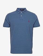 Slim Fit Mesh Polo Shirt - DELTA BLUE/C4488