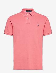 Slim Fit Mesh Polo Shirt - DESERT ROSE/C7512