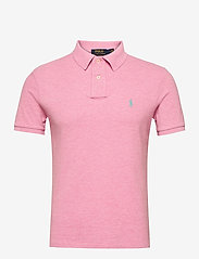 Slim Fit Mesh Polo Shirt - HAMPTON PINK HEAT