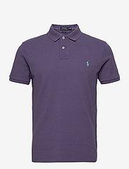 Slim Fit Mesh Polo Shirt - JUNEBERRY/C5171