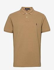Slim Fit Mesh Polo Shirt - LUXURY TAN/C8888