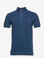 Slim Fit Mesh Polo Shirt - MEDIUM INDIGO/C38