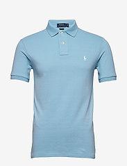 Slim Fit Mesh Polo Shirt - POWDER BLUE/C1750