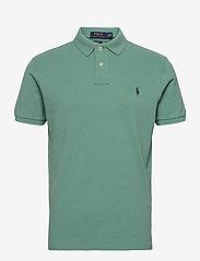 Slim Fit Mesh Polo Shirt - SEAFOAM/C7976