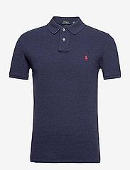 Slim Fit Mesh Polo Shirt - SPRING NAVY HEATH