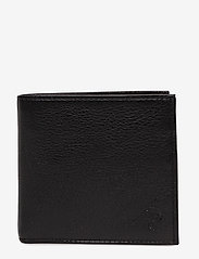 Polo Ralph Lauren - Coin-Pocket Leather Wallet - naudas maki - black - 0