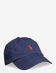 Cotton Chino Baseball Cap - NEWPORT NAVY/RED
