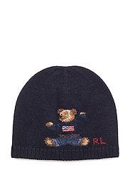 MERINO-BEAR HAT-AC-HAT - HUNTER NAVY
