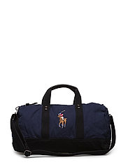 Canvas Big Pony Duffel Bag - NAVY/BLACK