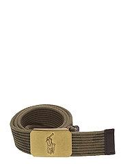 Camo Pony-Plaque Webbed Belt - WASHED CAMO