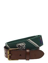 Polo-Overlay Webbed Belt - GREEN