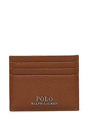 Pebbled Leather Card Case - POLO TAN
